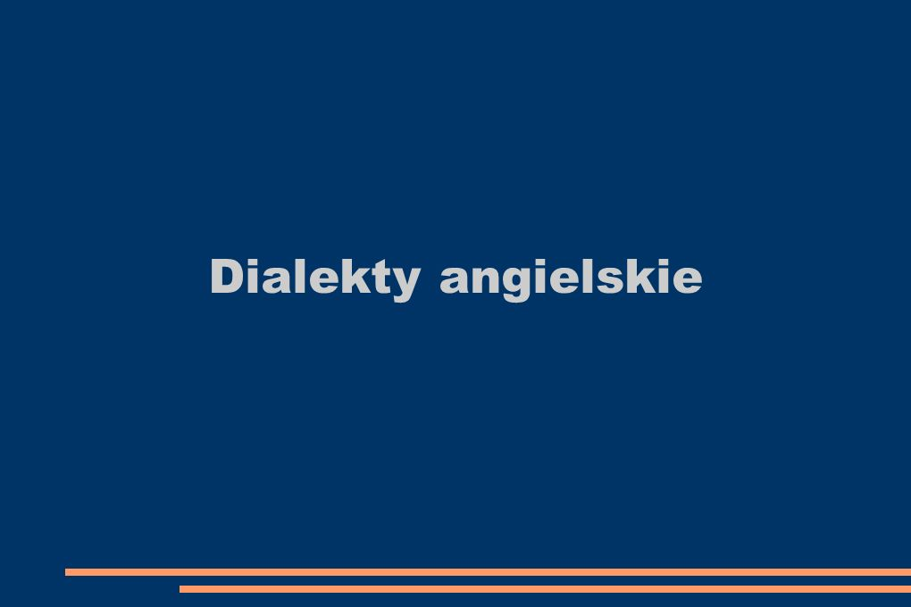Dialekty angielskie