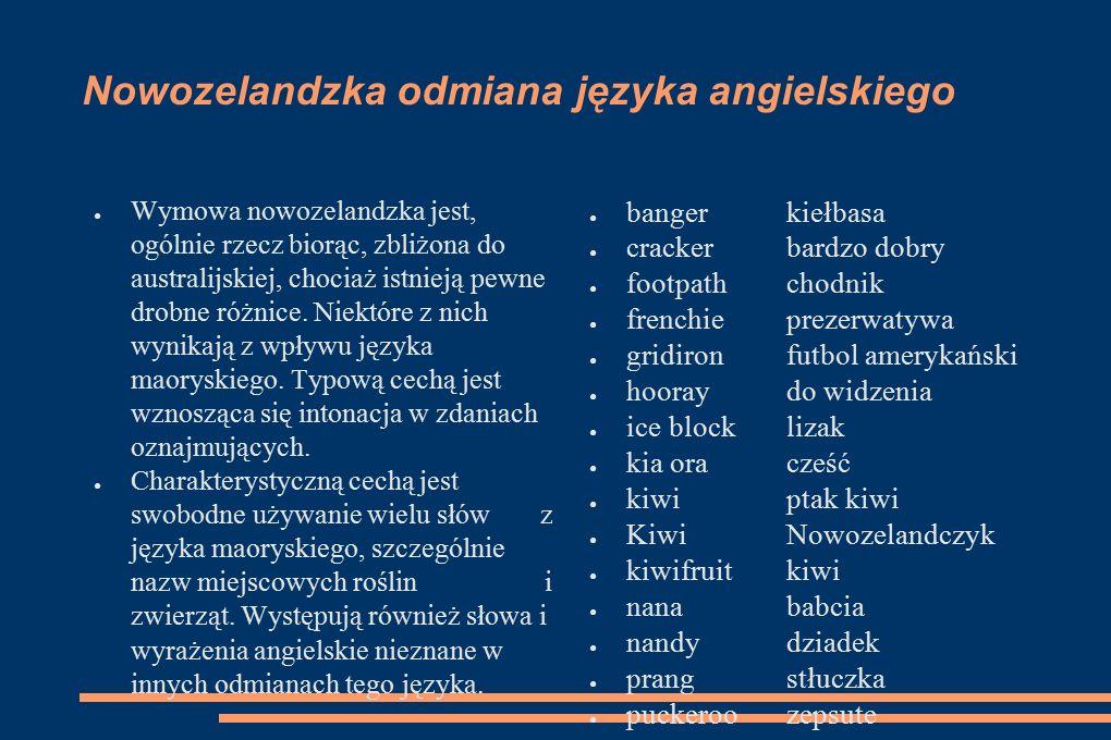 Nowozelandzka odmiana języka angielskiego