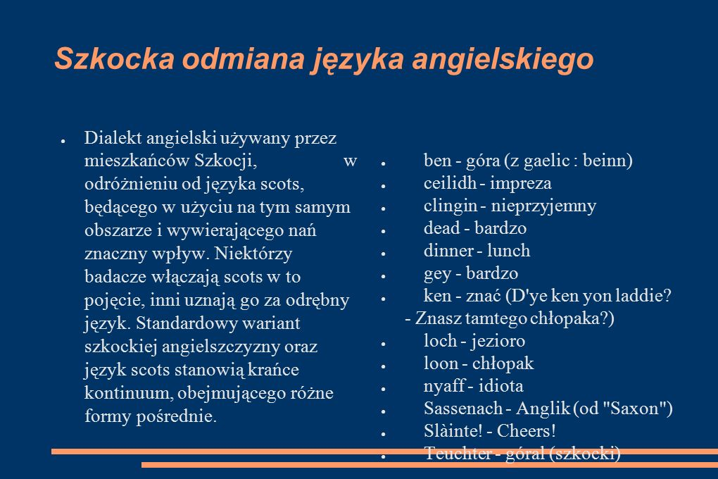 Szkocka odmiana języka angielskiego