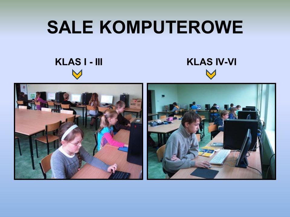 SALE KOMPUTEROWE KLAS I - III KLAS IV-VI