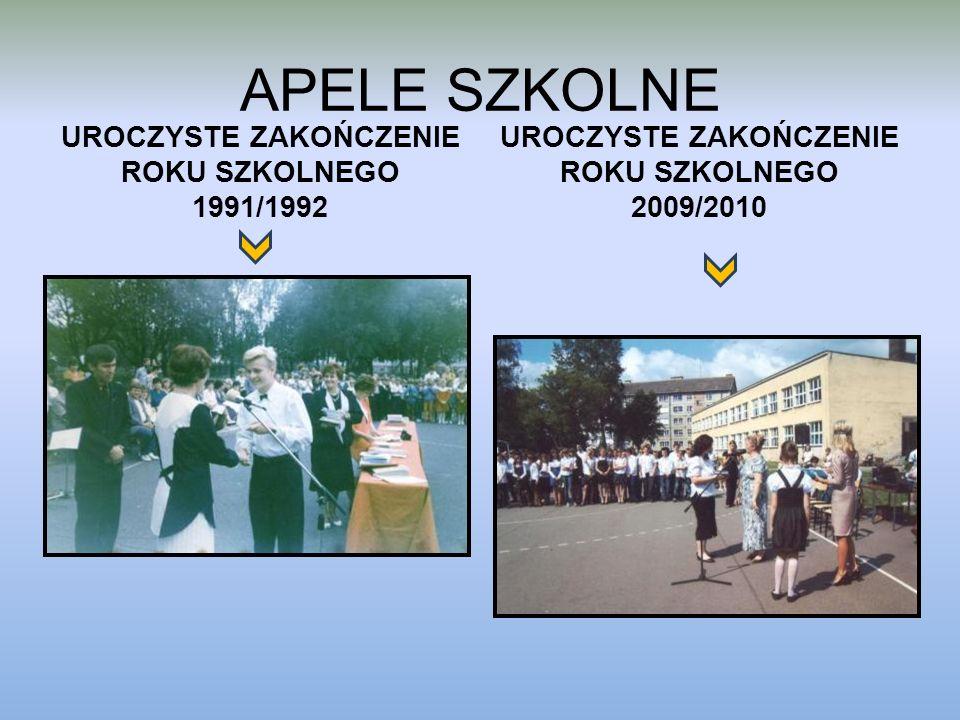 APELE SZKOLNE UROCZYSTE ZAKOŃCZENIE ROKU SZKOLNEGO 1991/1992