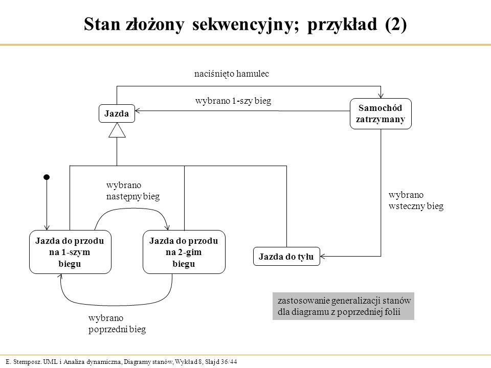 Stan złożony sekwencyjny; przykład (2)