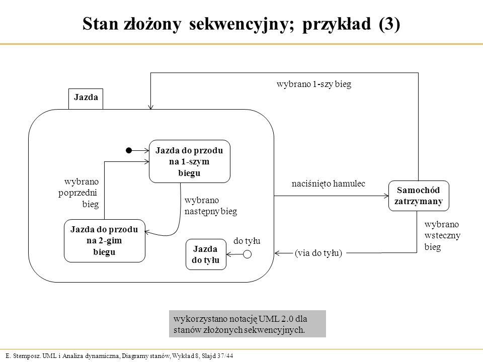 Stan złożony sekwencyjny; przykład (3)