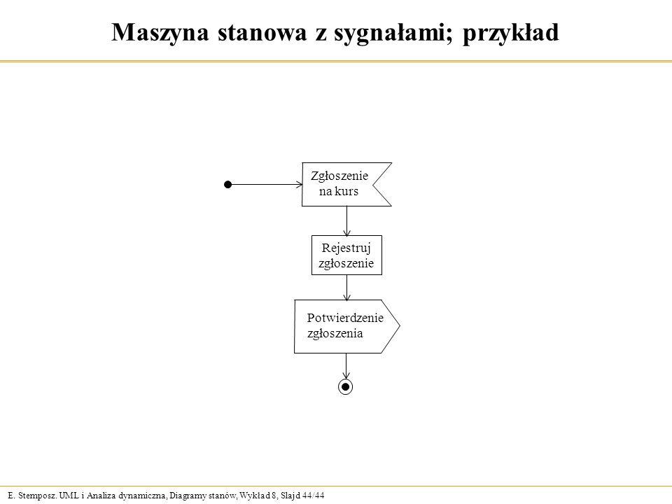 Maszyna stanowa z sygnałami; przykład