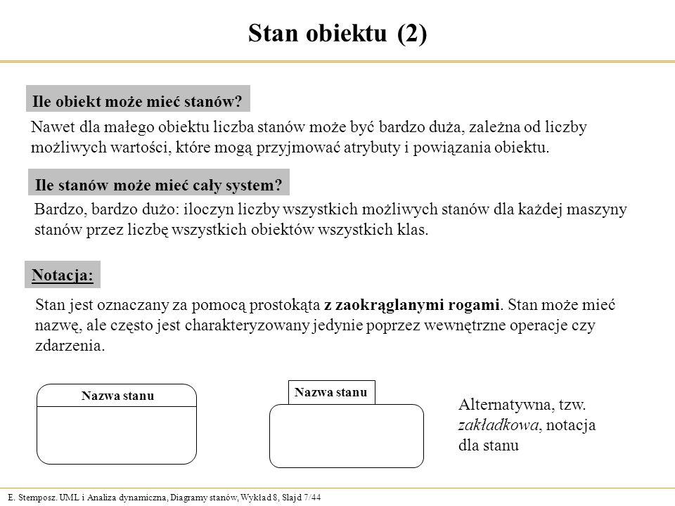 Stan obiektu (2) Ile obiekt może mieć stanów