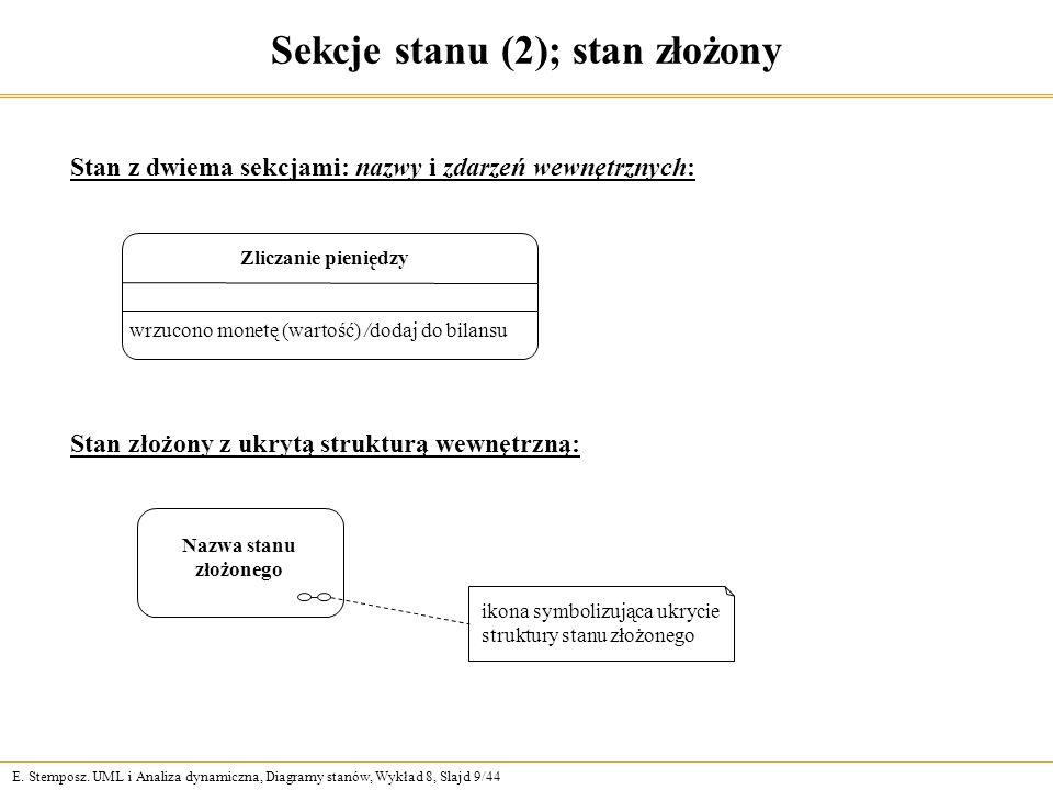 Sekcje stanu (2); stan złożony