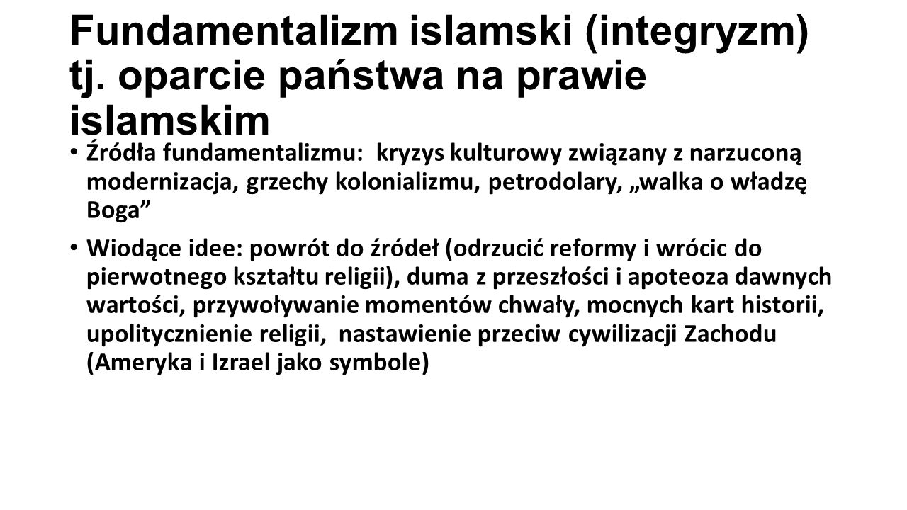 Fundamentalizm islamski (integryzm) tj