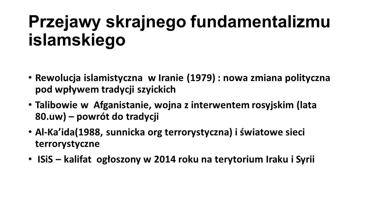 Przejawy skrajnego fundamentalizmu islamskiego