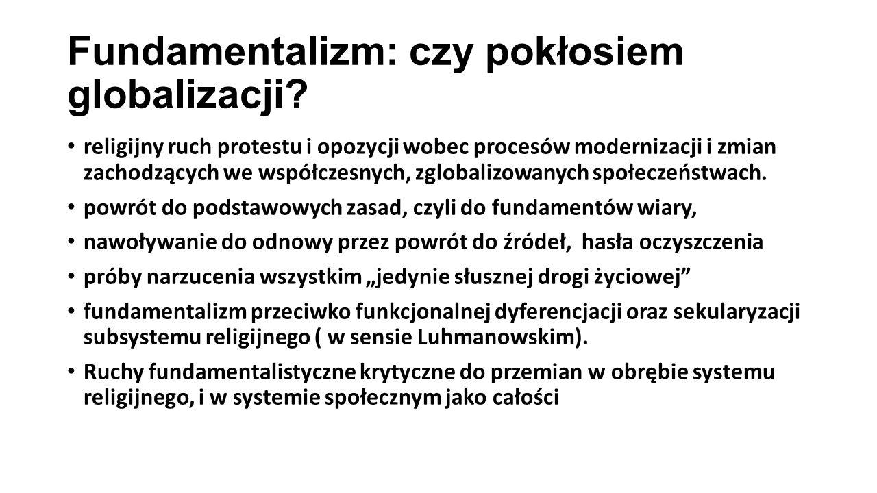 Fundamentalizm: czy pokłosiem globalizacji