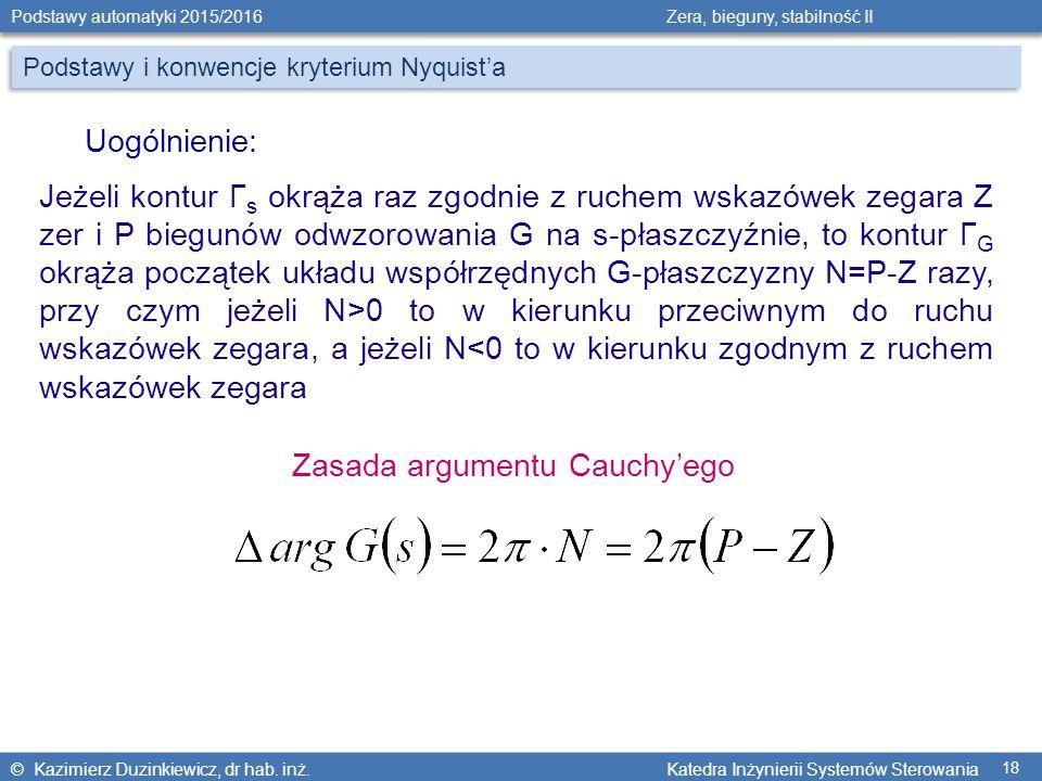 Zasada argumentu Cauchy'ego