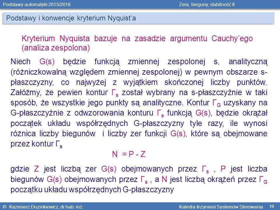Podstawy i konwencje kryterium Nyquist'a