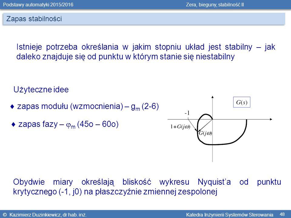  zapas modułu (wzmocnienia) – gm (2-6)