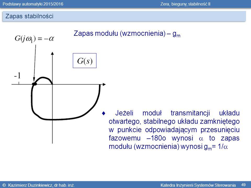 Zapas modułu (wzmocnienia) – gm
