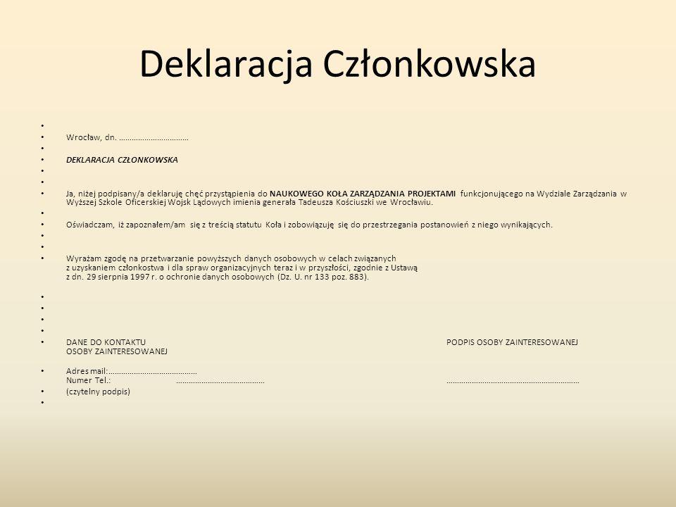 Deklaracja Członkowska