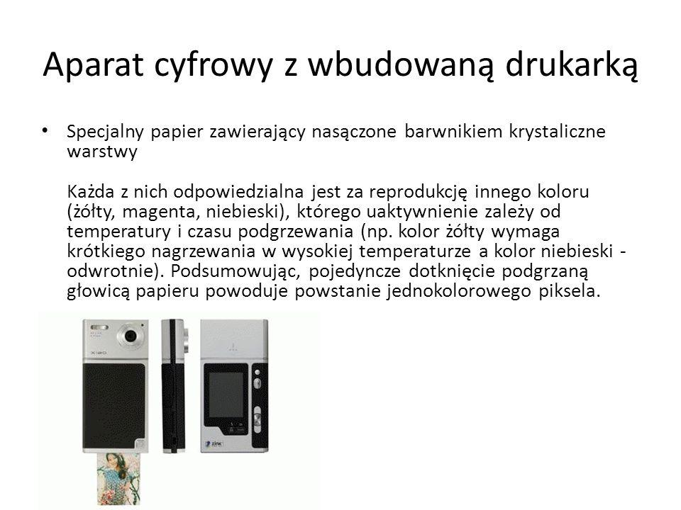 Aparat cyfrowy z wbudowaną drukarką