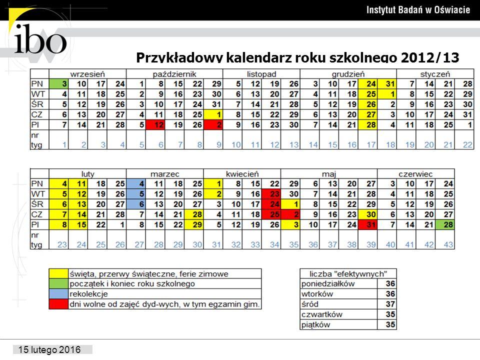 Przykładowy kalendarz roku szkolnego 2012/13