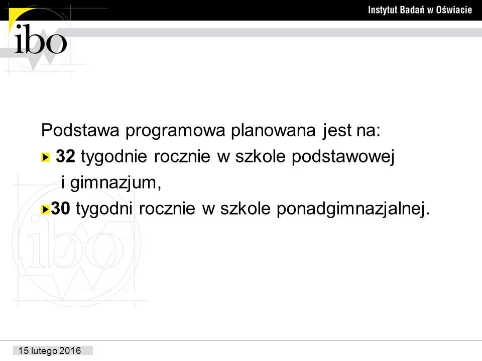 Podstawa programowa planowana jest na: