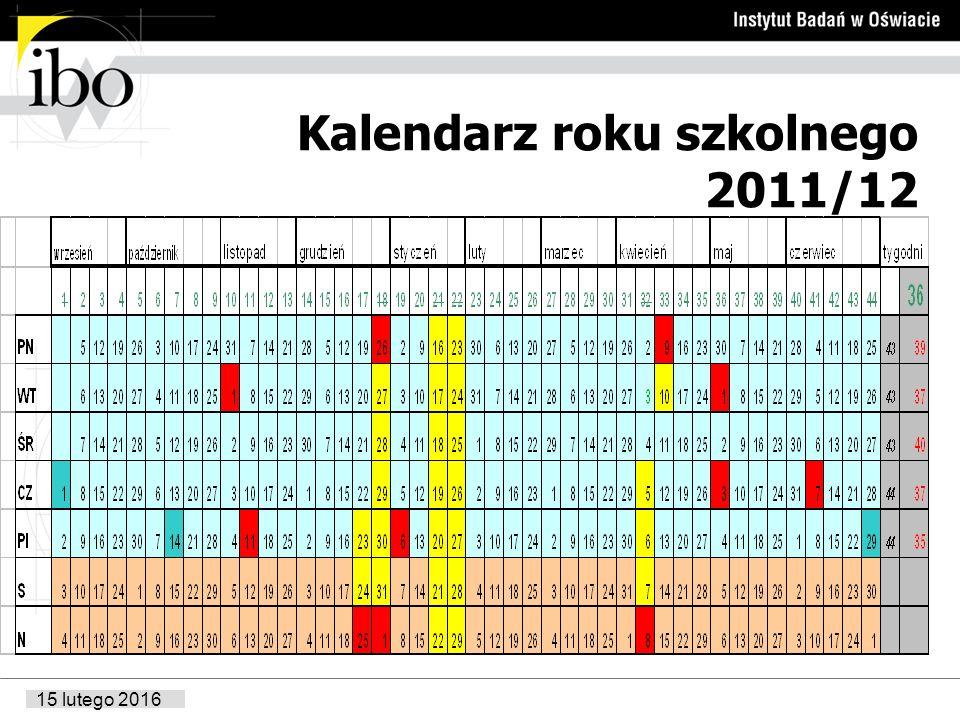 Kalendarz roku szkolnego 2011/12