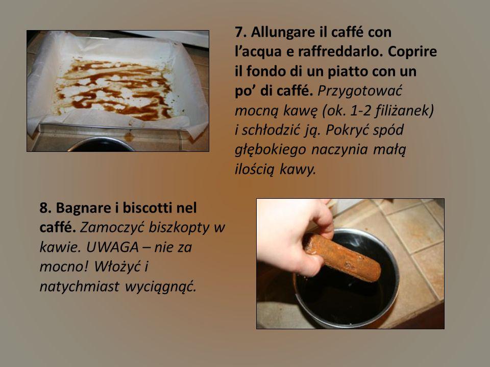 7. Allungare il caffé con l'acqua e raffreddarlo