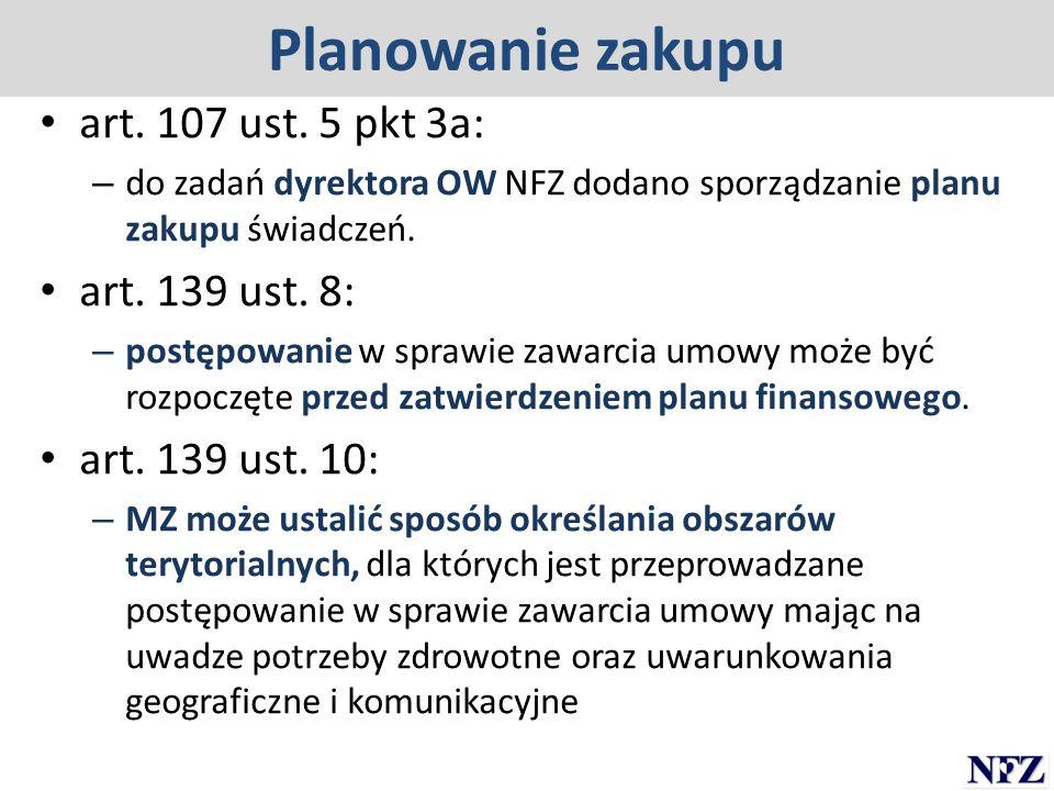 Planowanie zakupu art. 107 ust. 5 pkt 3a: art. 139 ust. 8: