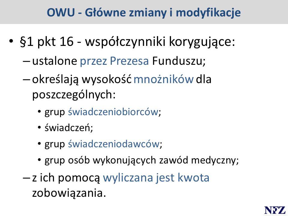 OWU - Główne zmiany i modyfikacje