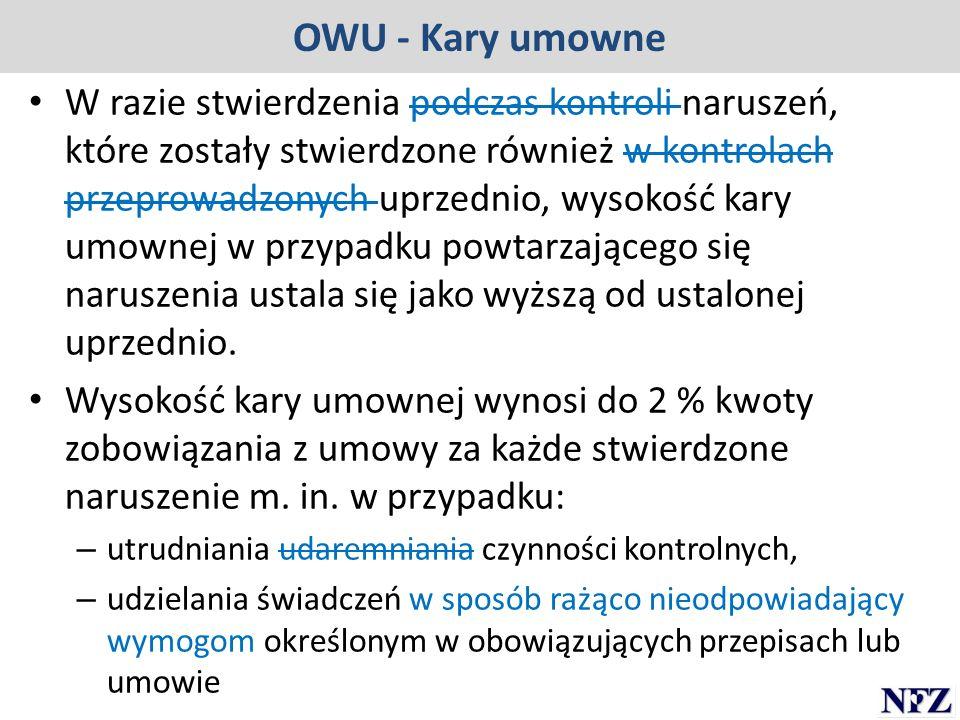 OWU - Kary umowne