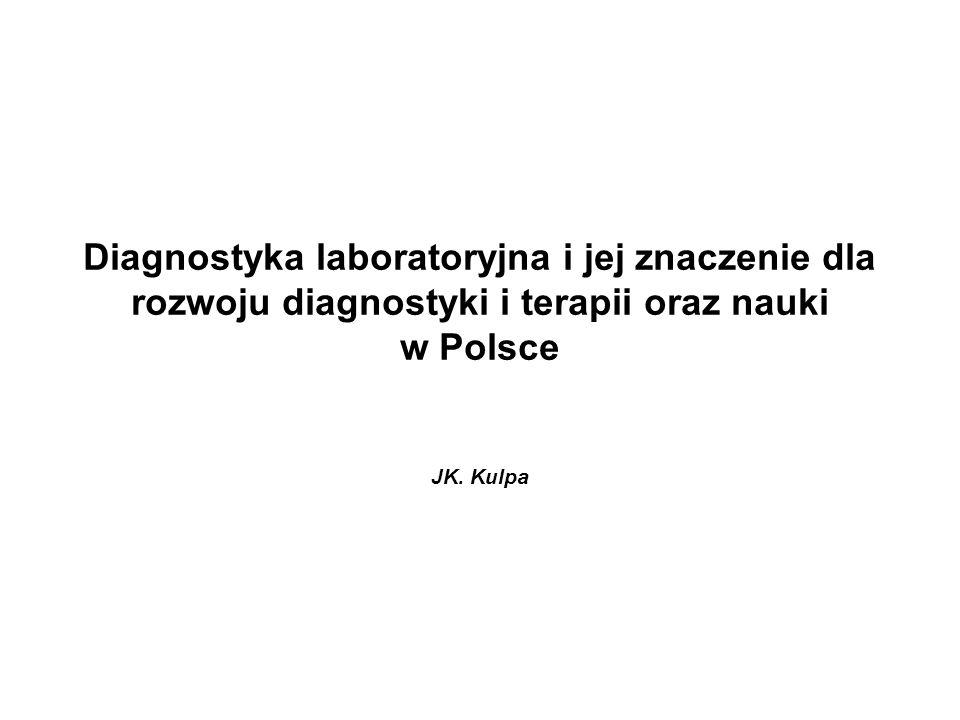 Diagnostyka laboratoryjna i jej znaczenie dla rozwoju diagnostyki i terapii oraz nauki w Polsce