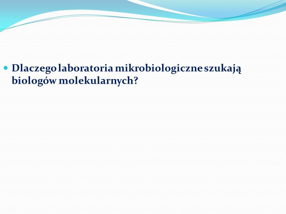 Dlaczego laboratoria mikrobiologiczne szukają biologów molekularnych