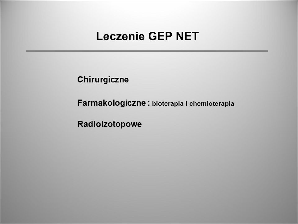 Leczenie GEP NET Chirurgiczne