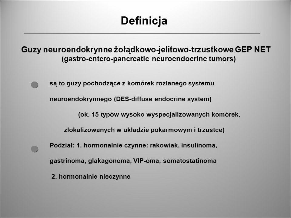 Definicja Guzy neuroendokrynne żołądkowo-jelitowo-trzustkowe GEP NET