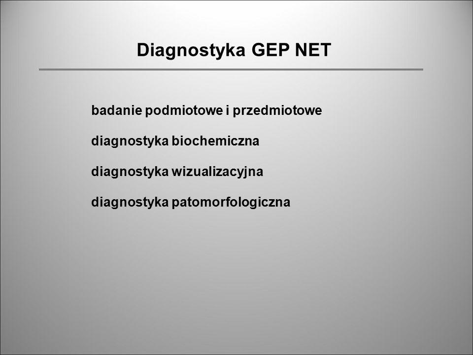 Diagnostyka GEP NET badanie podmiotowe i przedmiotowe