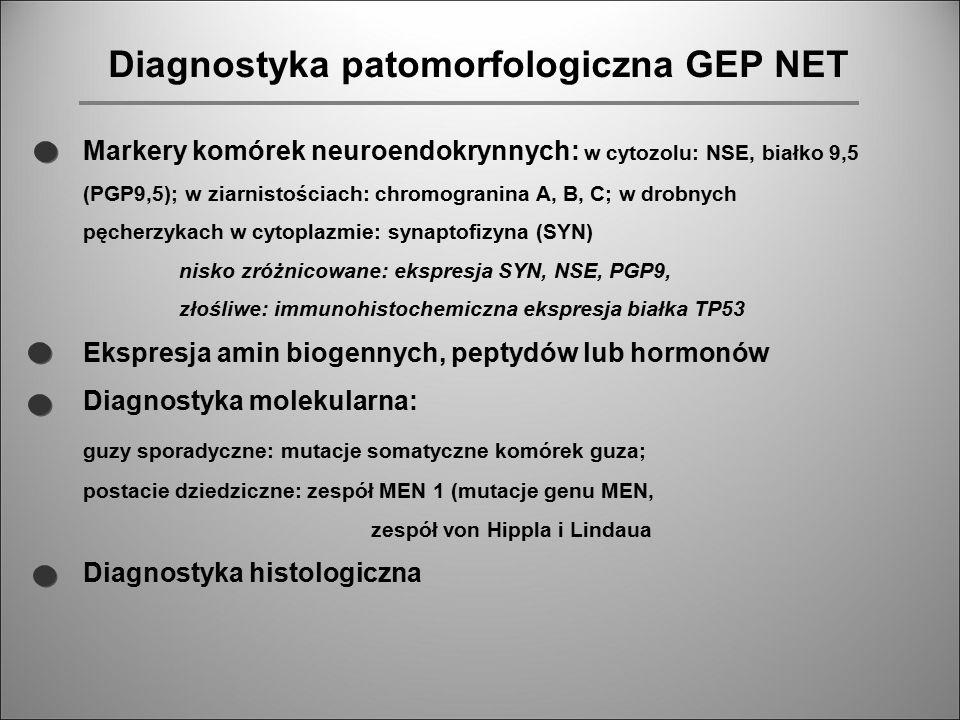 Diagnostyka patomorfologiczna GEP NET