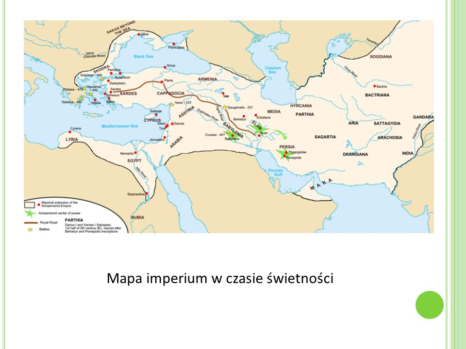 Mapa imperium w czasie świetności