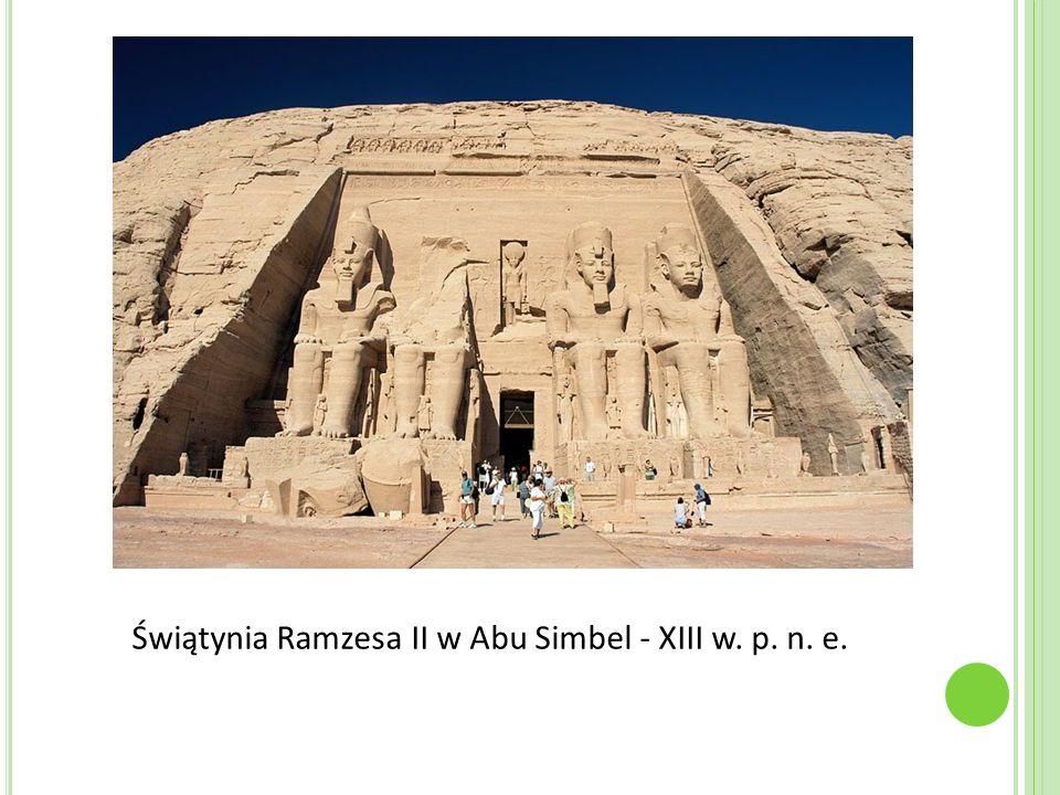 Świątynia Ramzesa II w Abu Simbel - XIII w. p. n. e.