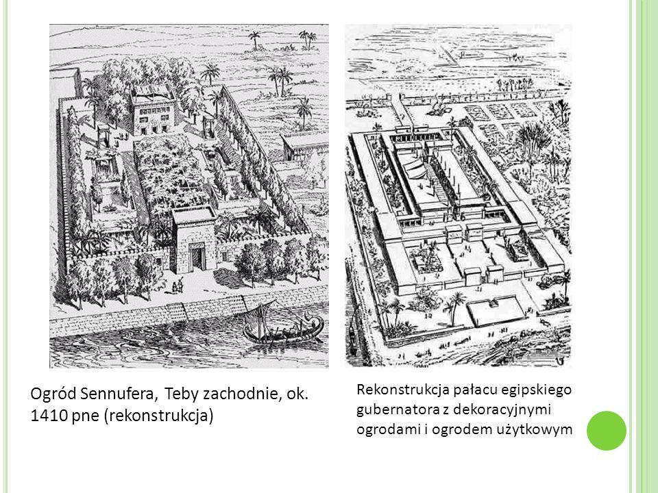 Ogród Sennufera, Teby zachodnie, ok. 1410 pne (rekonstrukcja)