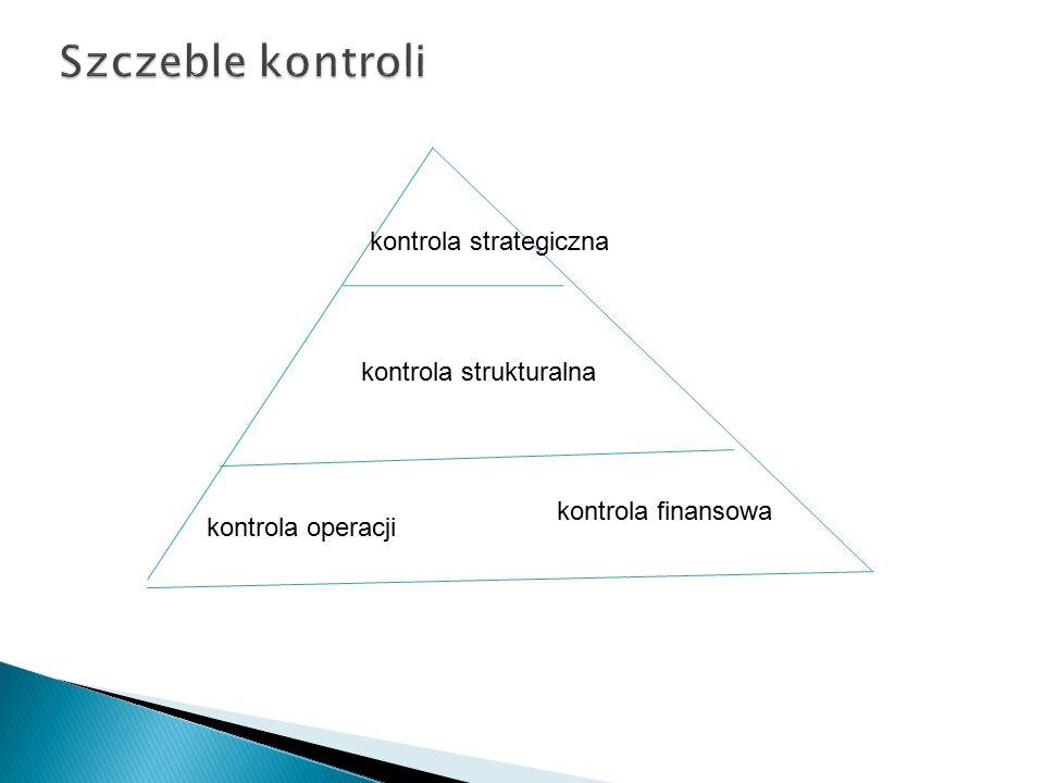 Szczeble kontroli kontrola strategiczna kontrola strukturalna
