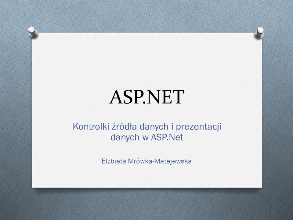 ASP.NET Kontrolki źródła danych i prezentacji danych w ASP.Net