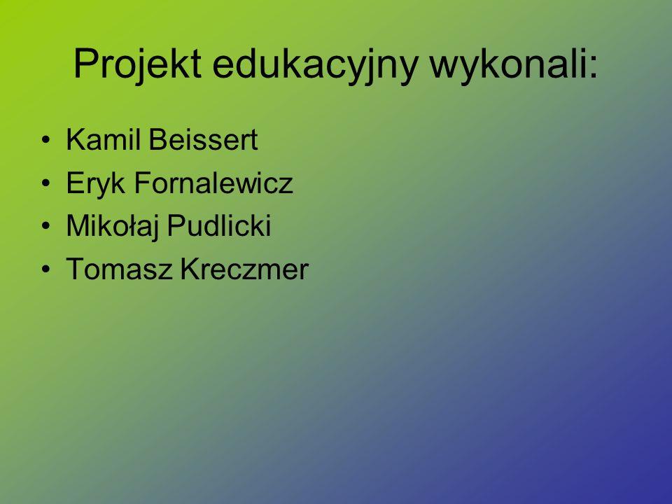 Projekt edukacyjny wykonali:
