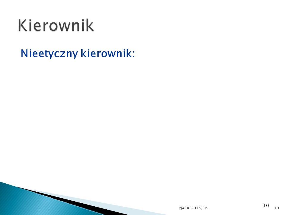Kierownik Nieetyczny kierownik: