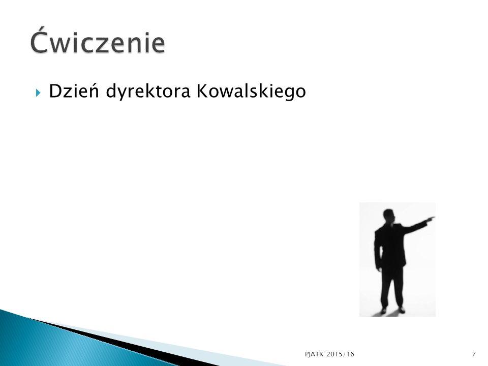Ćwiczenie Dzień dyrektora Kowalskiego PJATK 2015/16