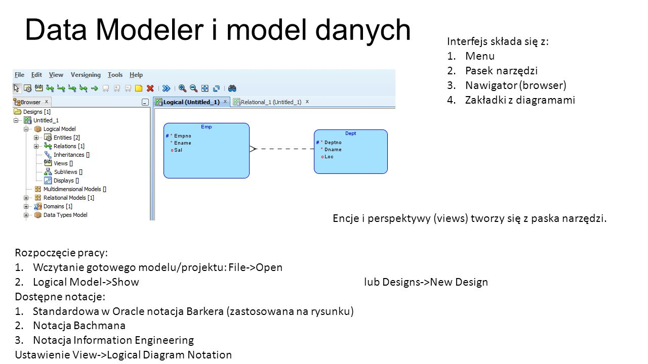 Data Modeler i model danych