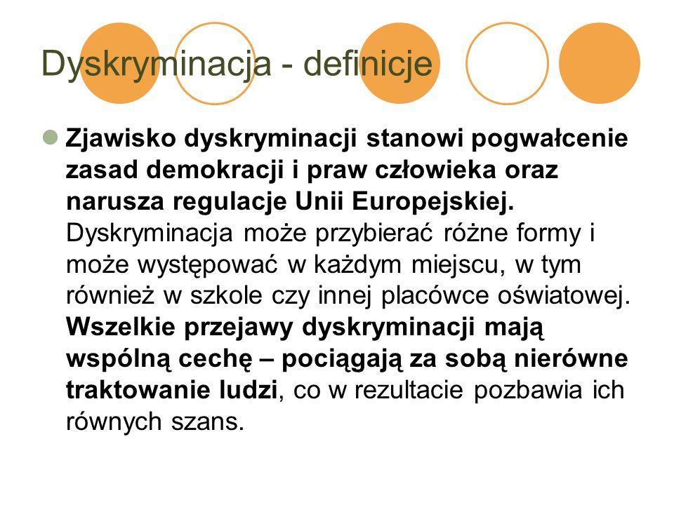 Dyskryminacja - definicje