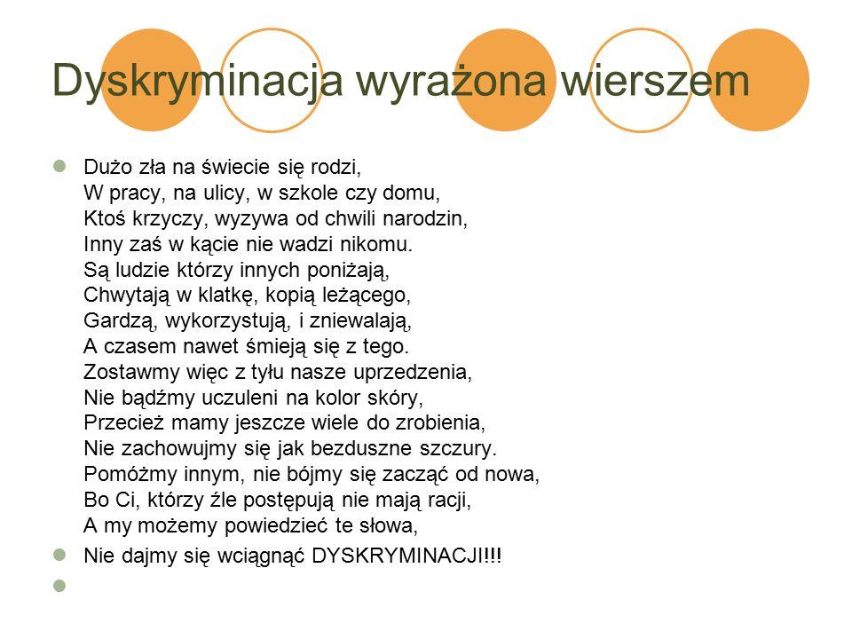 Dyskryminacja wyrażona wierszem
