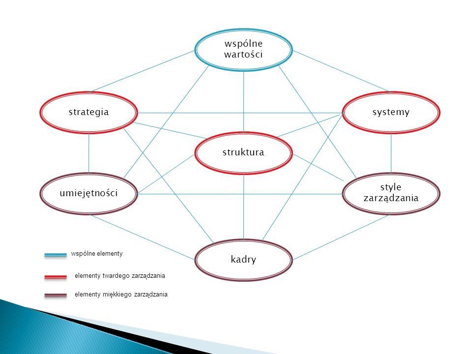 wspólne wartości strategia systemy struktura umiejętności