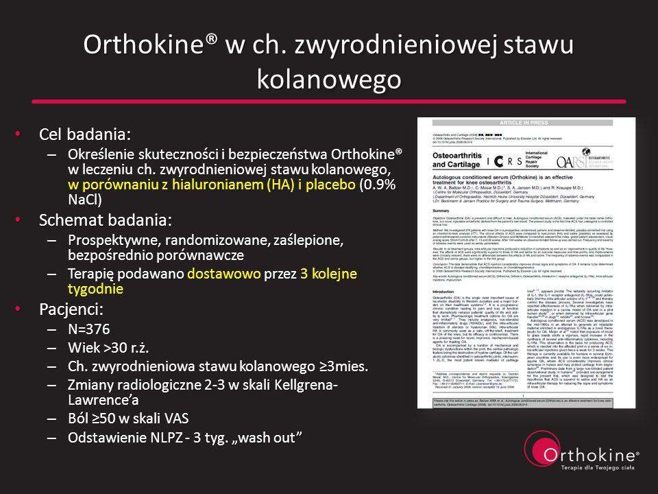 Orthokine® w ch. zwyrodnieniowej stawu kolanowego