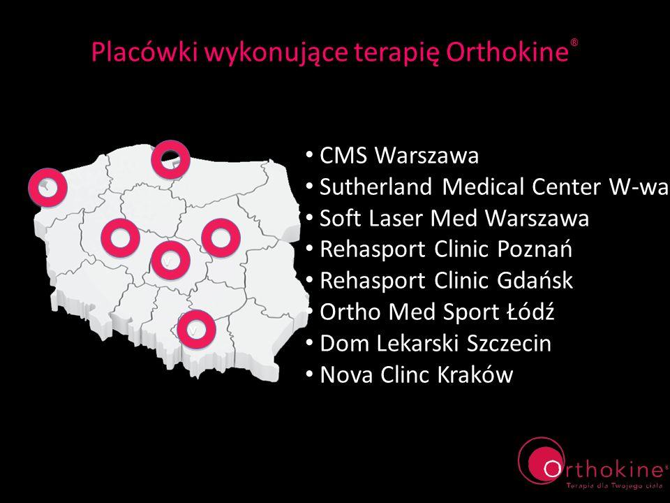 Placówki wykonujące terapię Orthokine®
