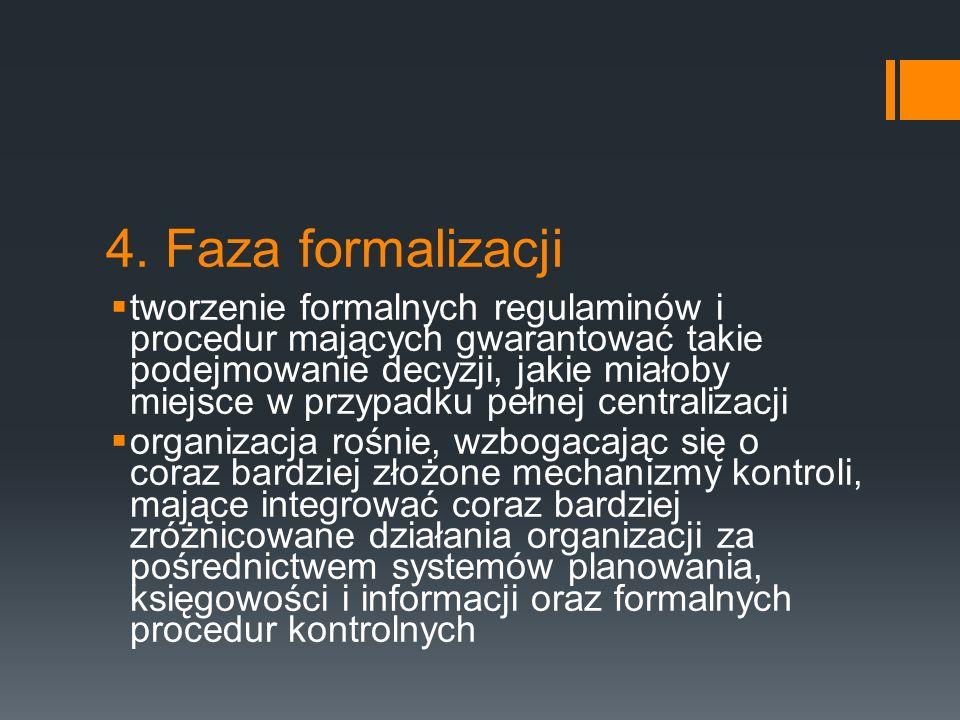 4. Faza formalizacji