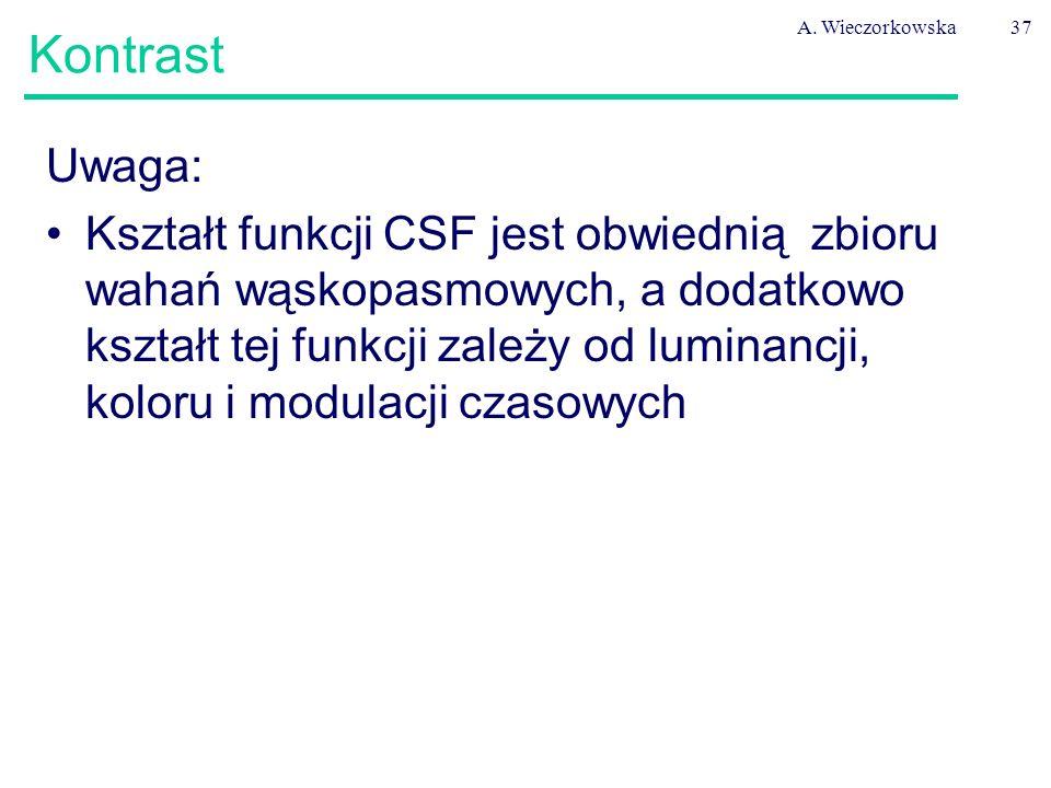 A. Wieczorkowska Kontrast. Uwaga: