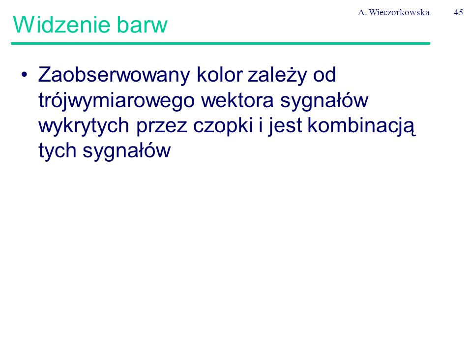 A. Wieczorkowska Widzenie barw.
