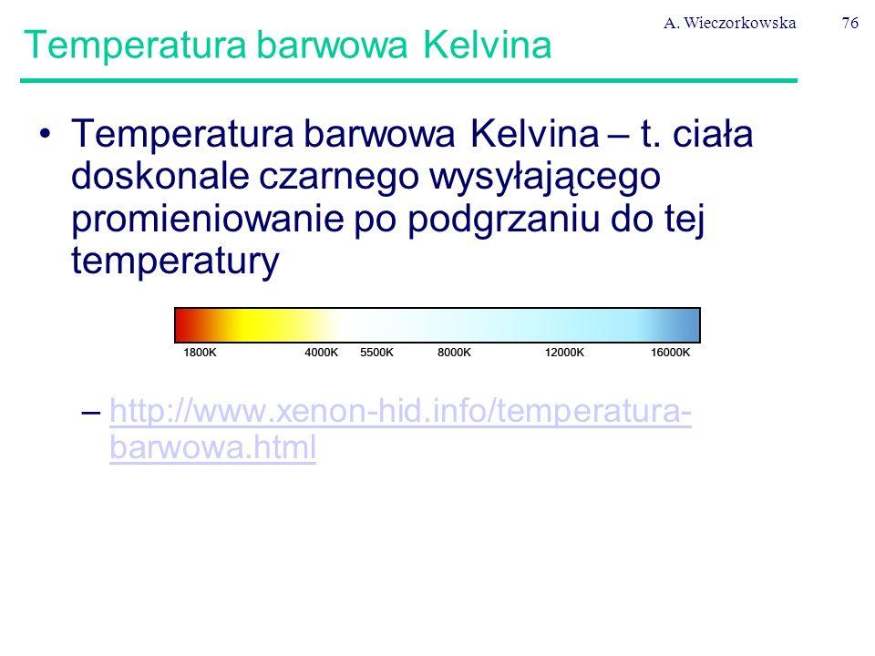 Temperatura barwowa Kelvina